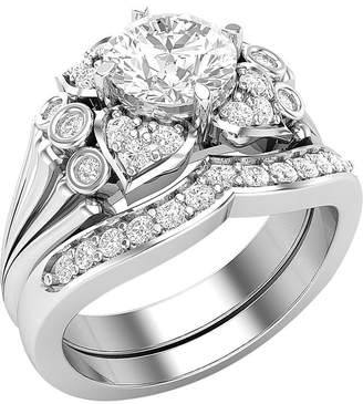 Panache Exports 1.85ct Flowers Bridal Wedding Band Engagement Rings Set 14k Gold Jewelry for women 8