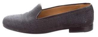 Stubbs & Wootton Raffia Round-Toe Loafers