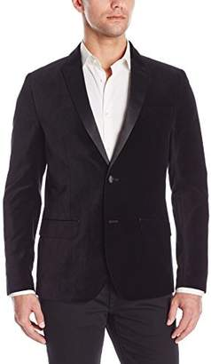 Kenneth Cole Reaction Men's Velvet Two-Button Slim Blazer