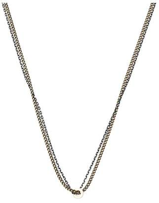 Oliver Bonas Calvin Double Row Metallic Chain Necklace