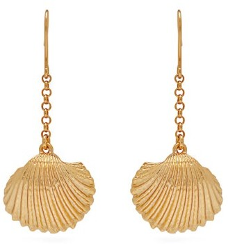 Aurelie Bidermann Fortaleza Shell 18kt Gold Plated Earrings - Womens - Gold