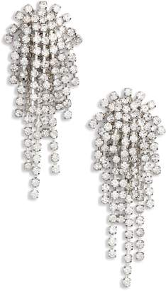 CRISTABELLE Rhinestone Cluster Earrings
