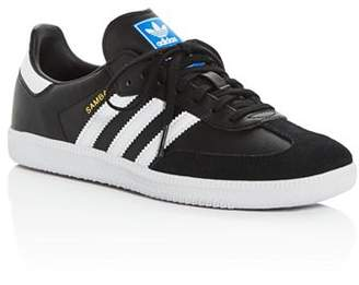 adidas Unisex Samba Leather & Suede Lace Up Sneakers - Big Kid