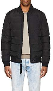 Barneys New York NBALab x The Very Warm XO NBALAB X THE VERY WARM XO MEN'S REVERSIBLE QUILTED BOMBER JACKET-BLACK SIZE L