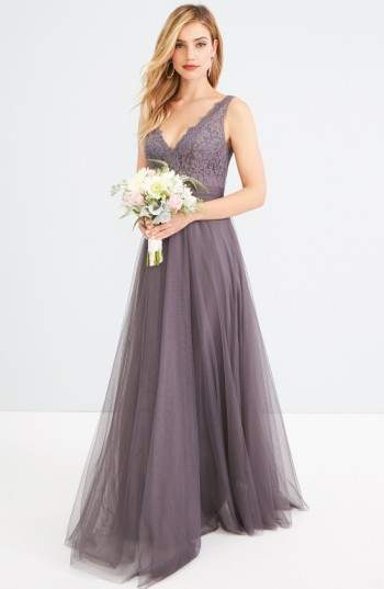 Watters Desiree Tulle Dress