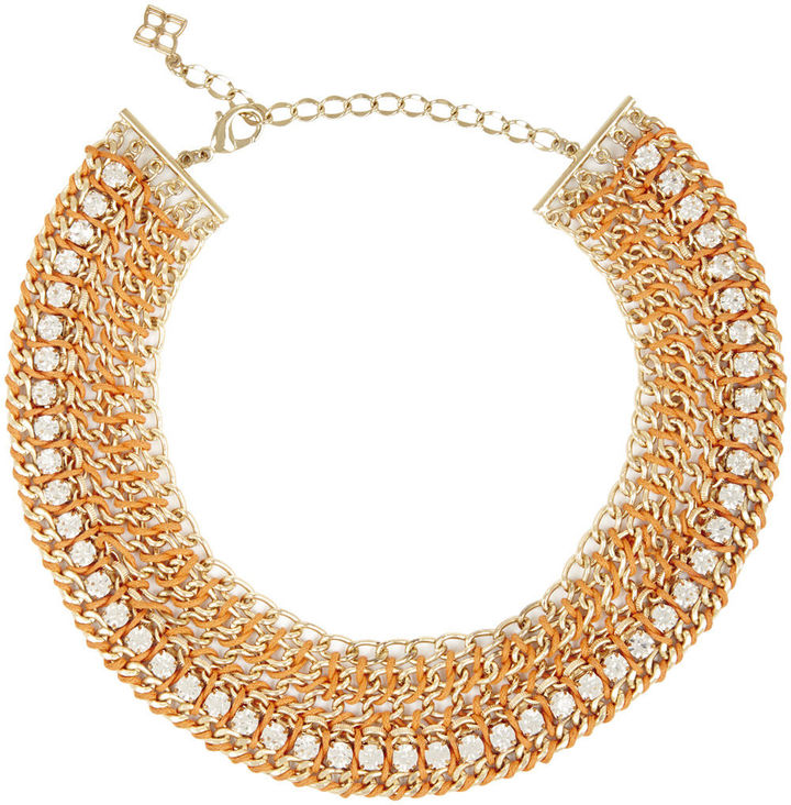 BCBGMAXAZRIA Chain Crocheted Necklace