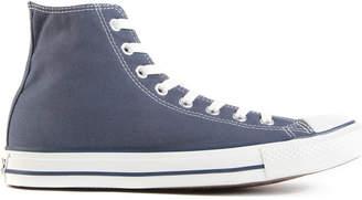 Converse blue-canvas high-tops
