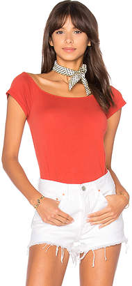 LA Made Imelda Off Shoulder Top in Red $44 thestylecure.com