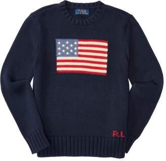 Ralph Lauren Flag Cotton Crewneck Sweater