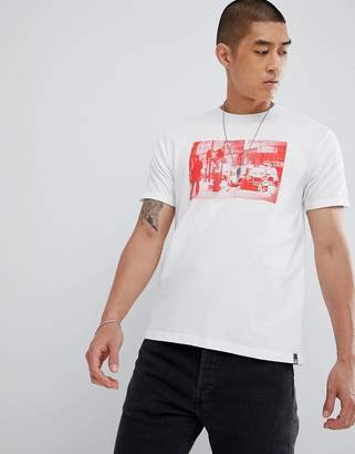 DC T-Shirt with London Chest Photo Print in White