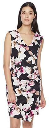 Suite Alice Wrap Front Gathered Waist Fitted Knee Length Dress Print