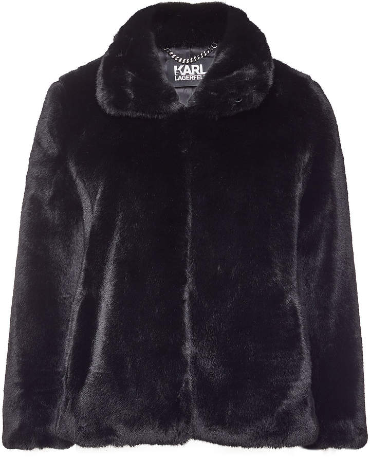 Buy Faux Fur Jacket with Logo!
