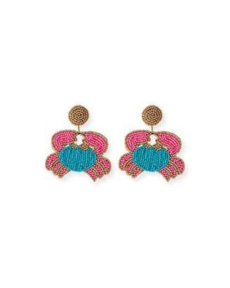 Kenneth Jay Lane Crab Seed Bead Earrings
