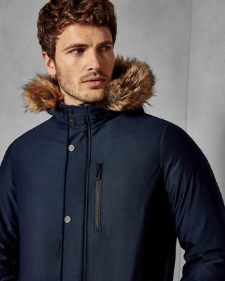 Ted Baker GOUDA Faux fur hooded parka