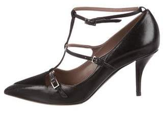 Tabitha Simmons Leather Ankle-Strap Pumps