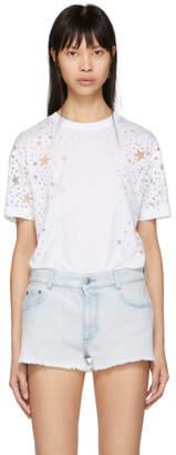 Stella McCartney White Cut-Out Star T-Shirt