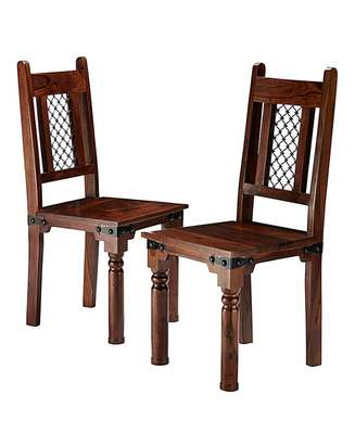 Jaipur At Home Collection Sheesham Pair of Dining Chairs