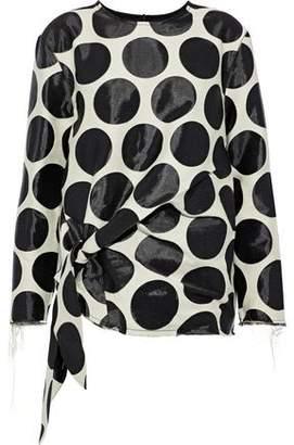 Marques Almeida Marques' Almeida Tie-Front Jacquard Shirt