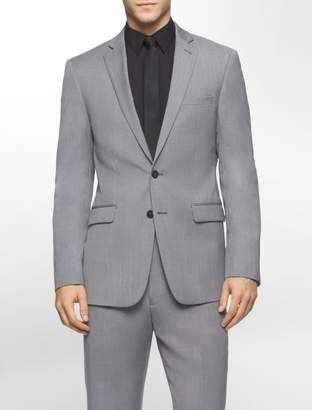 Calvin Klein body slim fit melange wool suit jacket
