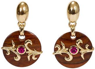 One Kings Lane Vintage Dominique Aurientis Wood Jewel Earrings
