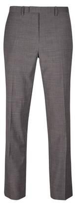 Burton Mens Grey Smart Collection Slim Fit Suit Trousers