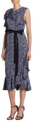 Erdem Kaylee Floral Midi Dress