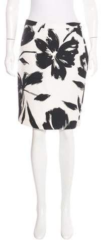 Michael Kors Floral Print Pencil Skirt