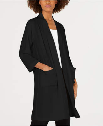 Eileen Fisher Longline Silk Jacket, Regular & Petite