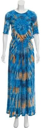 Raquel Allegra Tie-Dye Print Maxi Dress