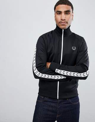 Fred Perry Sports Authentic taped track jacket in black