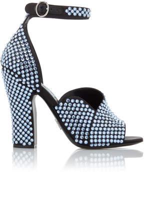 Prada Crystal-Embellished Satin Sandals