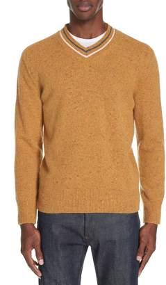 Ermenegildo Zegna Trim Fit V-Neck Wool & Cashmere Sweater