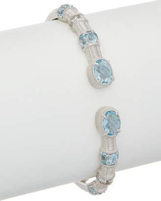 Judith Ripka Silver Gemstone Cuff