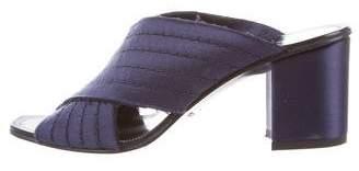 Pedro Garcia Crossover Satin Sandals