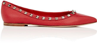 Valentino Women's Rockstud Leather Flats $775 thestylecure.com