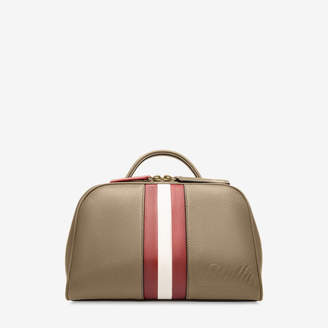 Bally Tulie Brown, Women's bovine leather crossbody bag in caki