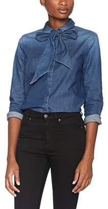 Armani Jeans Women's Denim Cotton Stretch Long Sleeve Button Down Top