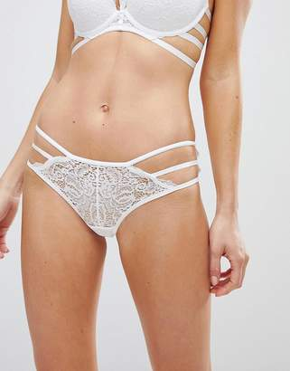 New Look Strapping Lace Brazillian Brief