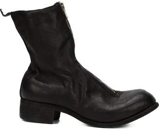 Guidi distressed zip-up boots