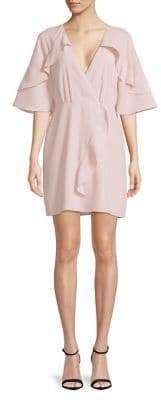 Halston H Flutter Bell-Sleeve Dress