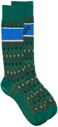 Prada geometric intarsia socks