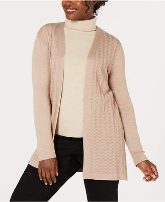 Karen Scott Petite Pointelle Duster Cardigan
