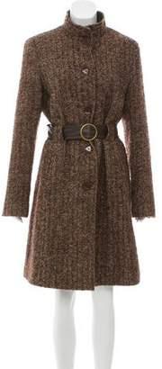 Via Spiga Belted Wool-Blend Coat