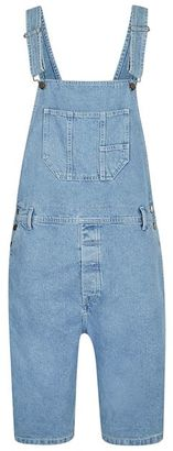 Blue Denim Short Overalls $85 thestylecure.com