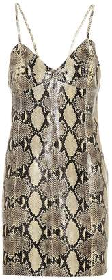Gucci Snakeskin-printed leather dress