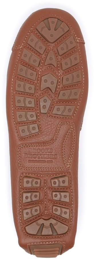 Brooks Brothers Pebble Leather Driving Mocs