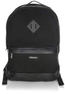 hook + ALBERT Logo Applique Cotton Backpack