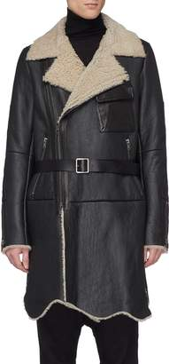 The Viridi-anne Belted mouton shearling coat