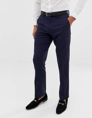 Asos DESIGN Slim Tuxedo Suit Pants in Navy