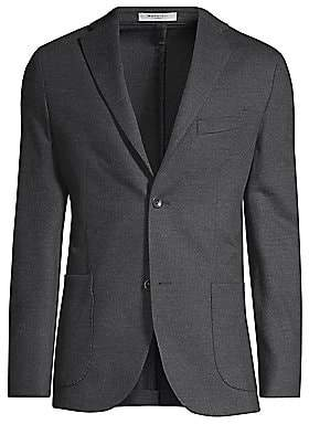 Boglioli Men's Heathered Jersey Sport Coat